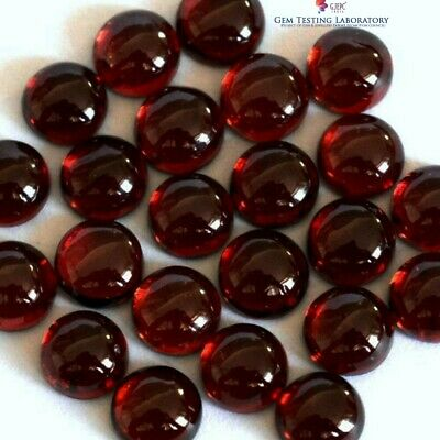 4x4 mm to 11x11 mm Round Natural Garnet Cabochon Loose Gemstone Wholesale Lot