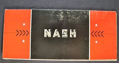 1934 Nash Brochure Folder Ambassador Advanced 8 Big 6 Nice Original 34