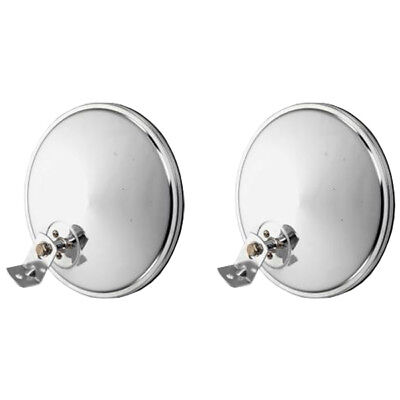 """Pair of 8"""" Offset Chrome Convex Truck Mirror for Peterbilt and Freightliner"""