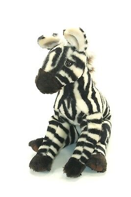 "World Wildlife Fund ZEBRA Plush 12"" Stuffed Animal Collectible 1985"