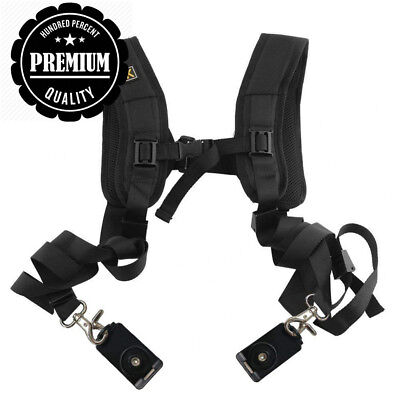 Top819 Trade Quick Release Dual Camera Shoulder Strap Harness Soft Padded...