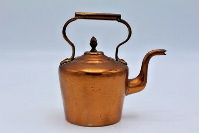 Vintage Antique Copper Tea Pots Tea Kettle - Part of a Collection ~ 4""