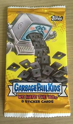 2018 Topps Garbage Pail Kids We Hate the '80's Sticker Cards Pack New