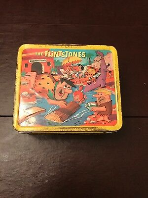 Vintage Flintstones Lunchbox 1964 with Thermos