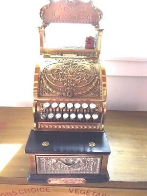 NATIONAL CASH REGISTER BRASS MODEL#313, CANDY STORE/BARBER SHOP, EARLY 1900's