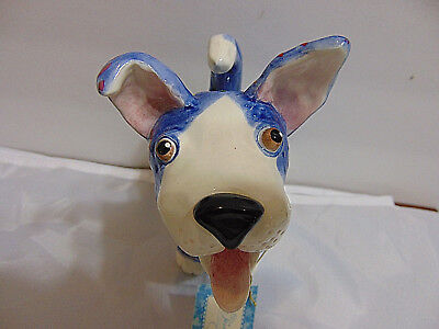 WhimsiClay dog 'Winston' figurine by Amy Lacombe collectible New Free shipping