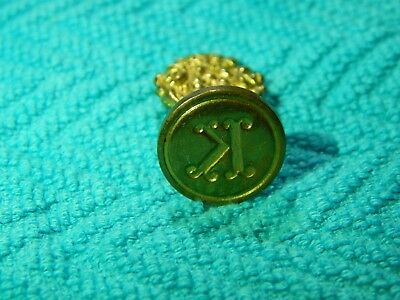 Vintage Signed Italy Solid Brass Sealing Wax Stamp Seal - Letter K