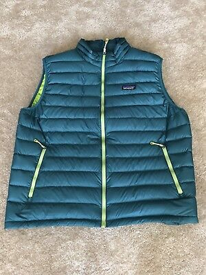 Patagonia Men's Down Sweater Vest Arbor Green Size XL