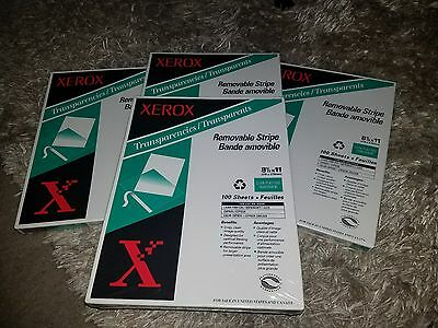 Xerox transparents removable stripe 8 1/2×11-100 sheets per package 3r3108