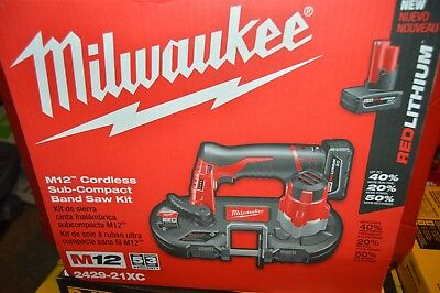 Milwaukee 2429-21XC M12 12V Li-Ion Sub-Compact Band Saw Kit {Brand New Sealed}