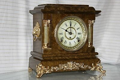 ANTIQUE SETH THOMAS SHELF MANTLE CLOCK-Totally!!-Restored- c//1900- ARNO- Model