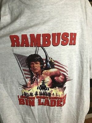 George Bush Rambo Rambush America War Shirt Mens Size Rare Xxl