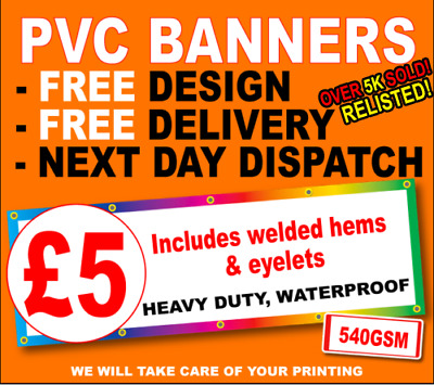 PVC Banners Outdoor Banner Vinyl Advertising Sign Display Printed Heavy Duty PVC