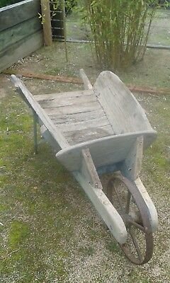 Vintage Collectable Wooden Wheel Barrow.