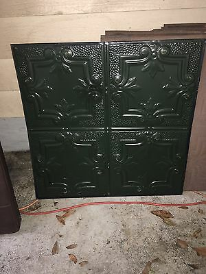 "Lot Of <20> 24"" x 24"" Antique Tin Ceiling Tile - Green"