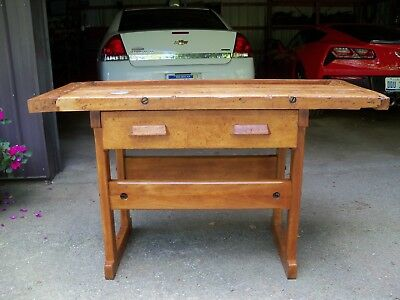 Antique Maple Workbench cabinetmakers work bench