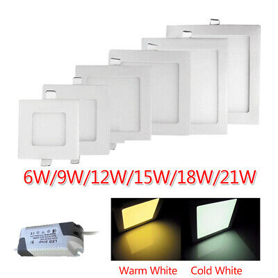 LED Recessed Non Dimmable Ceiling Panel Down Light Fixture Lamp 9 12 15 18 21W