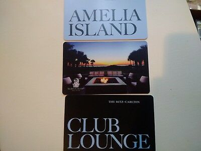 3 Ritz Carlton Club Lounge Hotel Room Key Card Collectors Amelia Island