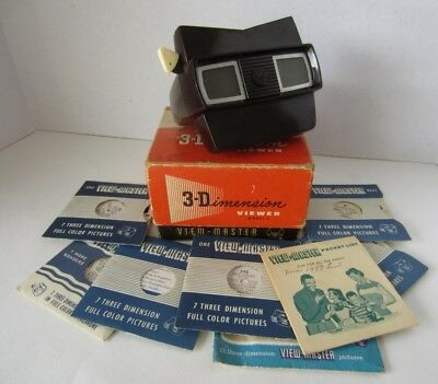 Vintage 1950's Sawyer's 3-Dimension View Master Model E Viewer in Box + Reels