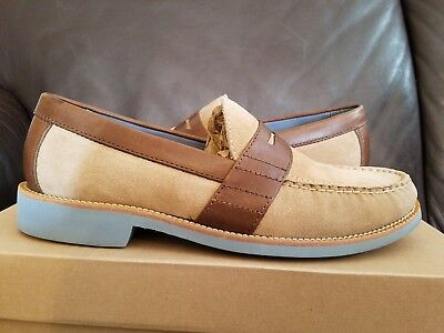 4e169f2594f Men s Cole Haan Air Monroe Eva Penny Loafer Beige Suede Brown Leather 9