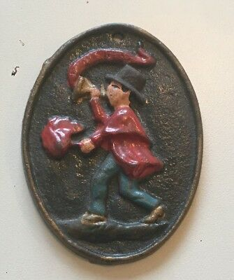 Vintage Wilton Cast Iron Fire Insurance Small Wall Plaque Marker.