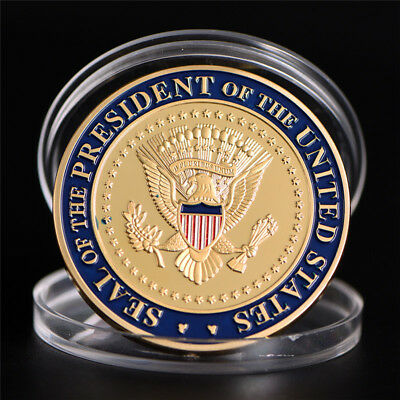 US 45th President Donald Trump Commemorative Coin  Collection Gifts Souvenir LR
