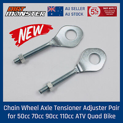 13mm Silver Alex Chain Adjuster Tensioner Fit Pit Dirt Bike Motorcycle Motocross