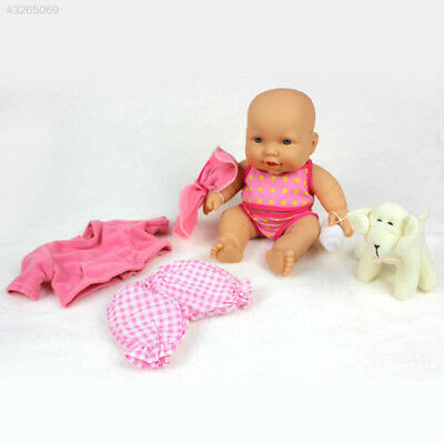 Lovely Lifelike Vinyl Baby Doll Newborn Reborn Cute Infant Silicone Toy Pink
