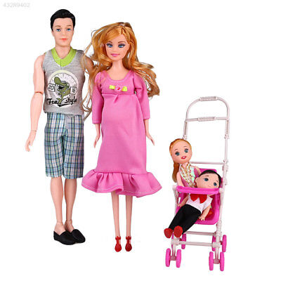5Pcs/Set Doll Family Members Toys Mother Daughter Children Gifts Decoration