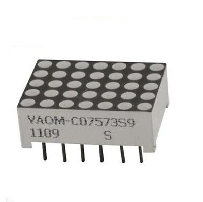 5X Vcc VAOM-C07573S9-BW/32 -  LED Dot Matrix Display, Red