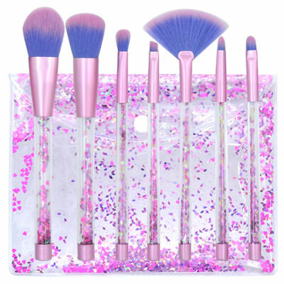 Purple Pouch Set 7pcs  Makeup Brushes Cosmetic