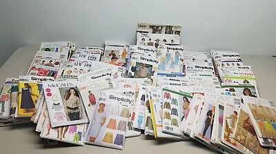 Bulk Lot of 100 Sewing Patterns  - All Uncut - Large Variety
