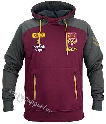 Queensland Maroons State of Origin 2018 Mens Pullover Squad Hoody Sizes S-5XL