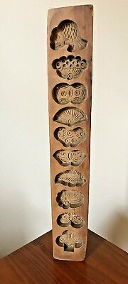 Vintage Chinese wooden moon cake mould