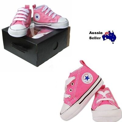 New! Converse Chuck Taylor First Star Baby Infant High Top Sneakers Pink 88871