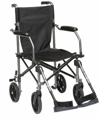Drive Medical TC005 Travelite - Silla de ruedas (45,5 cm, aluminio)