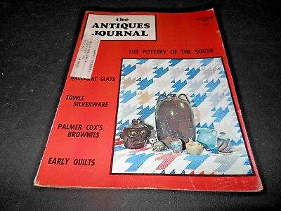 1973 Antiques Journal Soapmaking Tools Baccarat Glass Colonial Towle Silverware