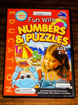 PC CD. Fun with Numbers & Puzzles. Ages 2-6 Australian Educational Software