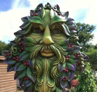 GREEN MAN Of The Forest Wall Plaque WINTERS WATCH TREE SPIRIT Wiccan Pagan