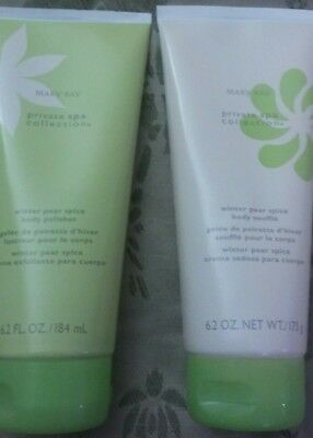 MARY KAY Lotion Winter Pear Spice Gift Set Private Spa Collection 6.2 oz & Bag