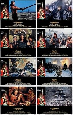 Conan The Barbarian Lobby Cards (1981) Complete Set of 8 (Arnold Schwarzenegger)