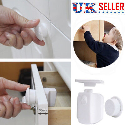 Invisible Magnetic Baby Child Pet Proof Cupboard Door Drawer Safety Lock Catch Y