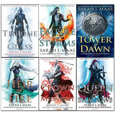 Throne of Glass Series Sarah J. Maas Collection Queen of Shadows 6 Books Set NEW