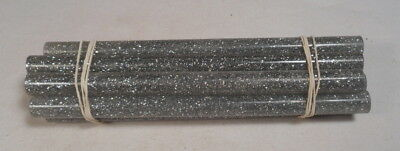 Beautiful rare lot of lucite silver spangle marbled 10 rods 419 grams