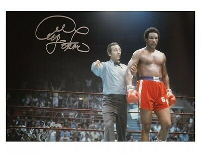 Signed George Foreman  Boxing Photo *Rare* COA And Photo Proof