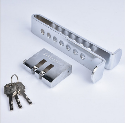 Stainless Steel Anti-theft Clutch Pedal 7 Holes Lock Car Brake Security Tool
