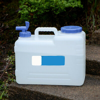Water Storage Container Can 15L Tank Liter Carrier Tap Food Grade Travel Camping