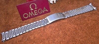 OMEGA NEW OLD STOCK SOLID STAINLESS STEEL WATCH STRAP / BRACELET 18mm AUTHENTIC