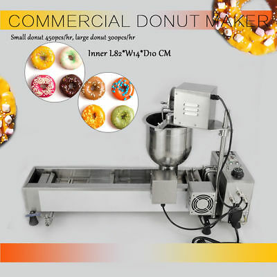 3000W Commercial automatique Donut Maker Making Machine 3 Sets Moule 220V