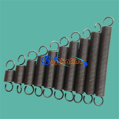 Wire Dia 1.0mm OD 5mm Length 80mm Dual Hook Tension Spring 5Pcs